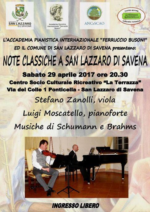 Stefano Zanolli e Luigi Moscatello: musiche di Schumann & Brahms